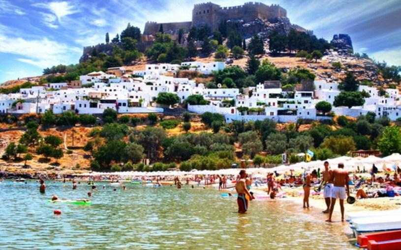 Lindos Beach (Rhodes, Greece)