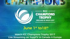 Watch India vs Pakistan 2017 ODI Live on YuppTV