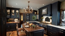 Black-brings-modern-refinement-to-a-traditional-kitchen