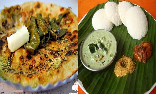 North India and South India Cuisine